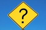 Verkehrsschild mit Fragezeichen
