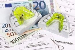 Heil- und Kostenplan, Geldscheine, Zahnersatz